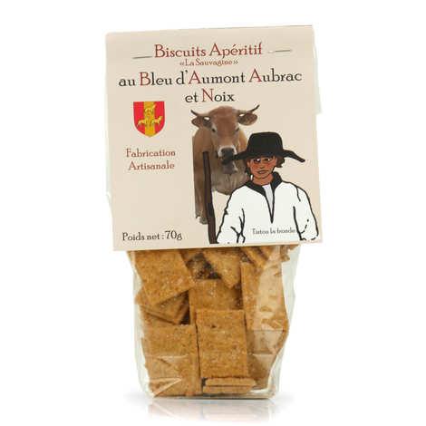 La Sauvagine - Biscuits apéritif au bleu d'Aumont-Aubrac et noix