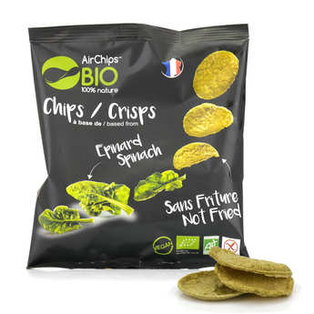 Airchips™ Bio - Organic and Vegan Spinach Crisps without Frying