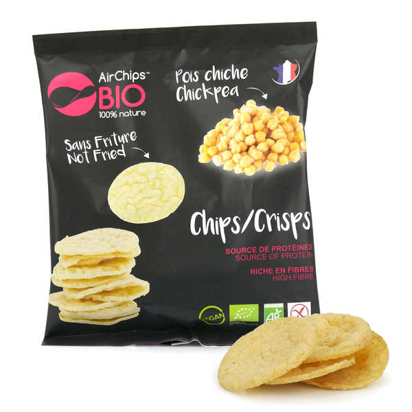 Organic and Vegan Chikpea Crisps without Frying