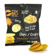 Chips de pois chiche au curry sans friture bio et vegan