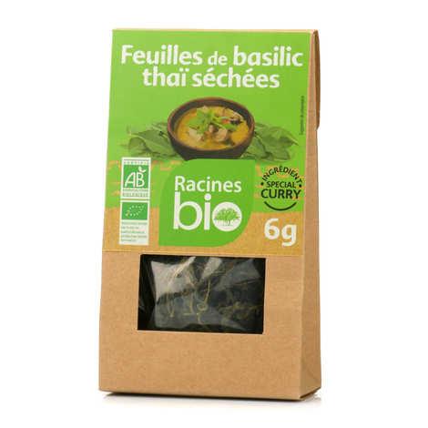 Racines - Feuilles de basilic thaï séchées bio