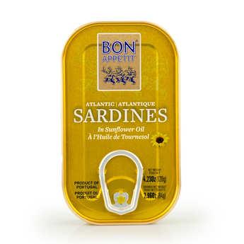 Bon Appetit - Sardines à l'huile de tournesol du Portugal