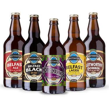 Assortiment de 5 bières irlandaises Whitewater