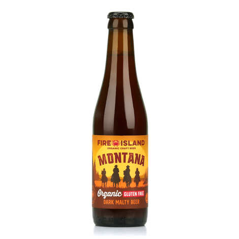 Fire Island Organic Craft Beer - Montana - Amber Wales Beer Organic and Gluten Free 4.6%