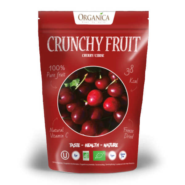 Crunchy fruit - cerise lyophilisée bio
