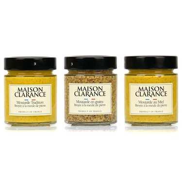 Assortiment découverte des moutardes Maison Clarance