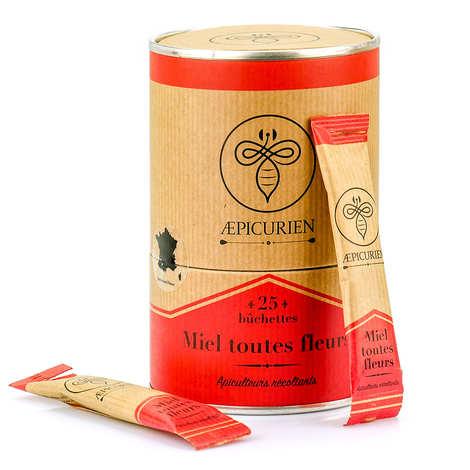 Aepicurien - Miel toutes fleurs en bûchettes