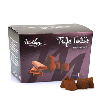 Chocolat Mathez - Truffes fantaisie crêpe dentelle en ballotin