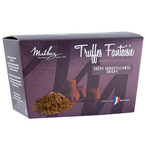 Chocolat Mathez - Truffes fantaisie aux brisures de crêpe dentelle en ballotin