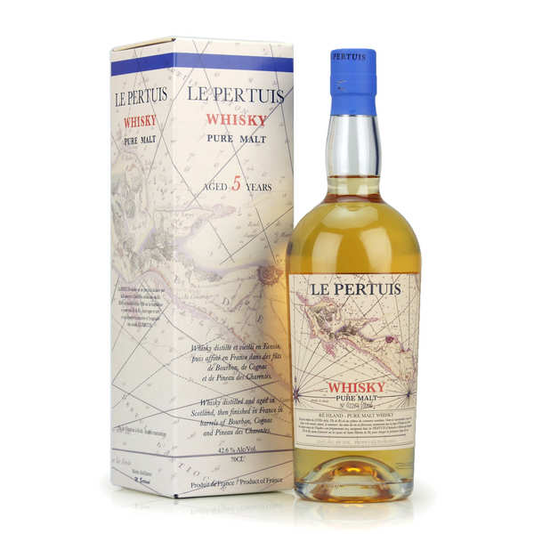 Whisky pure malt écossais Le Pertuis affiné sur l'Île de Ré 42.6%