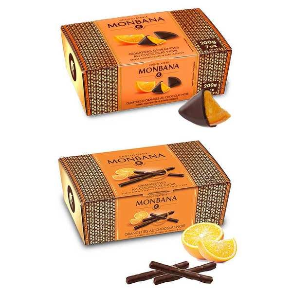 Chocolate and orange by Monbana assortment