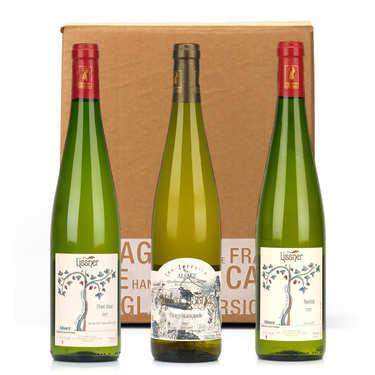 Box 3 vins d'Alsace bio et sans sulfites