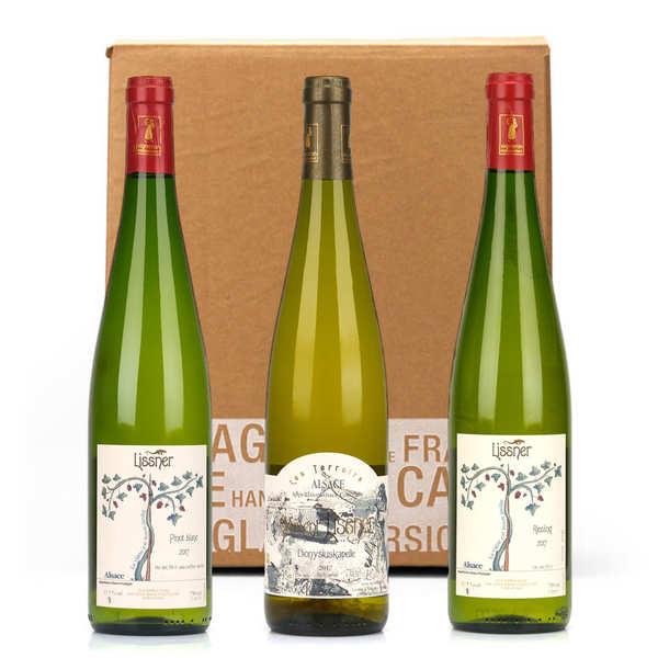 Assortiment de 3 vins d'alsace bio et sans sulfites - 3 bouteilles de 75cl