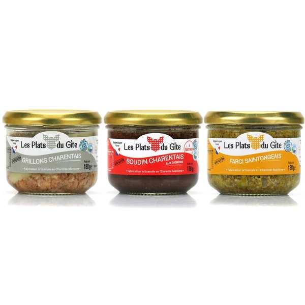 Assortiment de spécialités charentaises  - 3 verrines de 180g