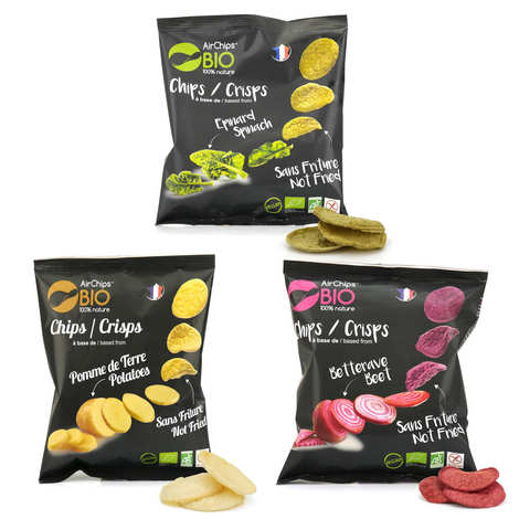 Airchips™ Bio - Organic and Vegan Airchips Crisps without Frying Assortment