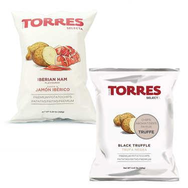 Assortiment de chips aromatisées Patatas Torres