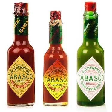 Assortiment de sauces Tabasco