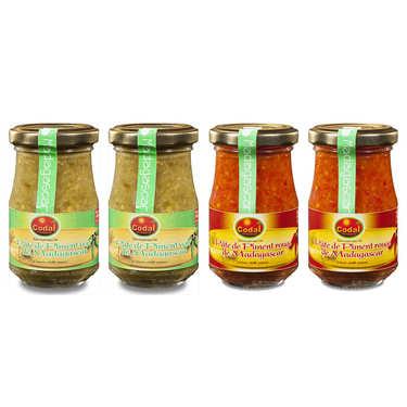 Assortiment de pâtes de piments de Madagascar Codal