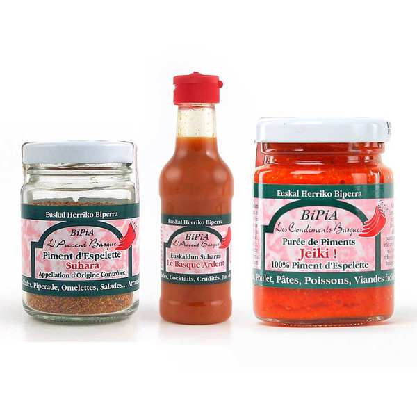 BiPiA Espelette red pepper assortment