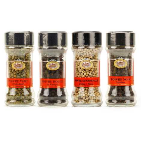 Le Comptoir Colonial - 4 colors peppers assortment