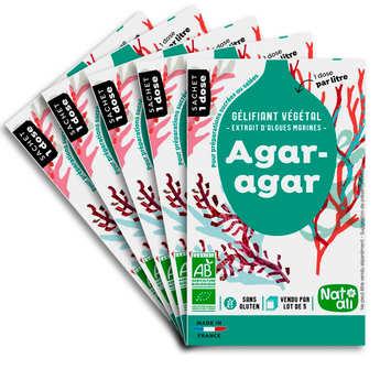 Nat-Ali - Agar agar en poudre bio - Etui 5 sachets de 4g