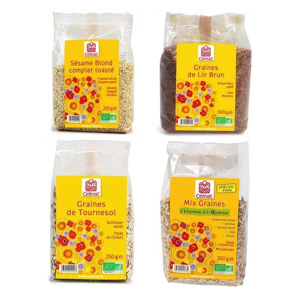 Assortiment de graines pour pain bio