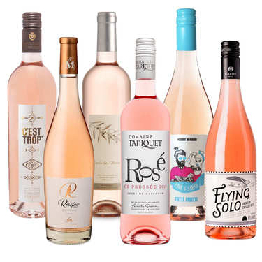 6 Rosé wines from France assortment