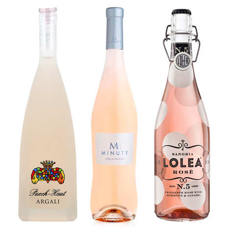 - 3 french pink wines for an aperitif