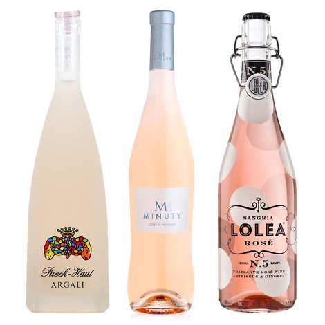 - 3 vins rosés pour l'apéritif