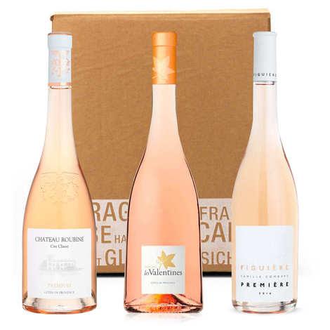 - 3 organic pink wines assortment