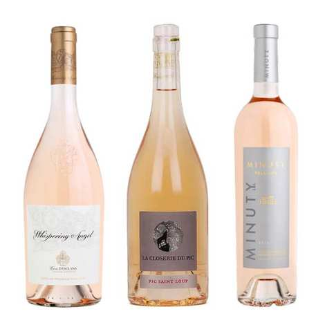 - 3 french pink wines for the dessert
