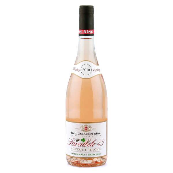 Côtes du rhône vin rosé parallèle 45 bio - 2018 - bouteille 75cl