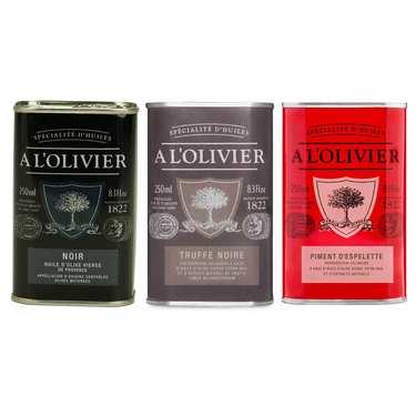 Assortiment de 3 huiles parfumées A l'Olivier