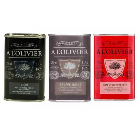 A L'Olivier - Assortiment de 3 huiles parfumées A l'Olivier