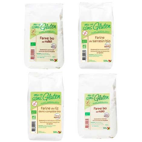 Ma vie sans gluten - Assortiment de 4 farines sans gluten bio