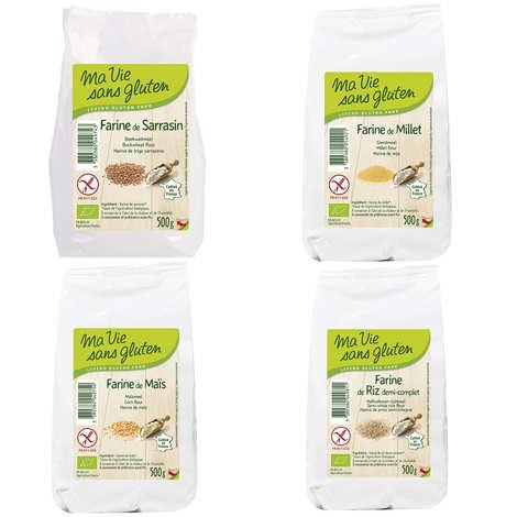 Ma vie sans gluten - 4 organic gluten-free flours assortment