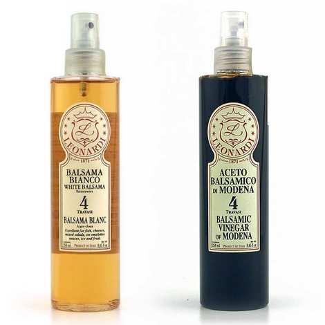 Vinaigrerie Leonardi - Duo de vinaigres balsamiques d'exception en spray