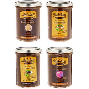 Assortiment de 4 pâtes à tartiner Malakoff