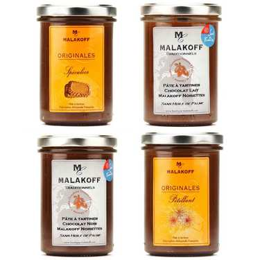 4 chocolate spreads by Malakoff assortment