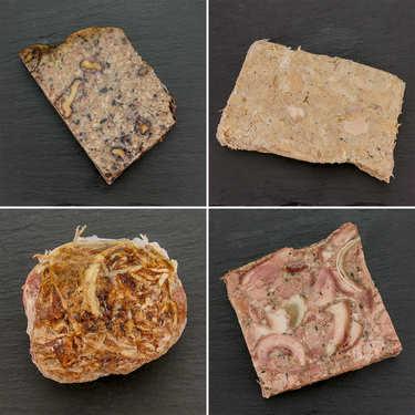 Assortiment rillettes, pâtés et fricandeau de l'Averyon