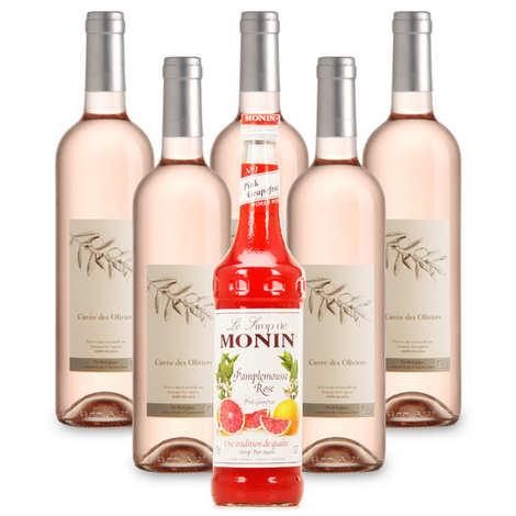 - Grapefruit rosé wine preparation kit