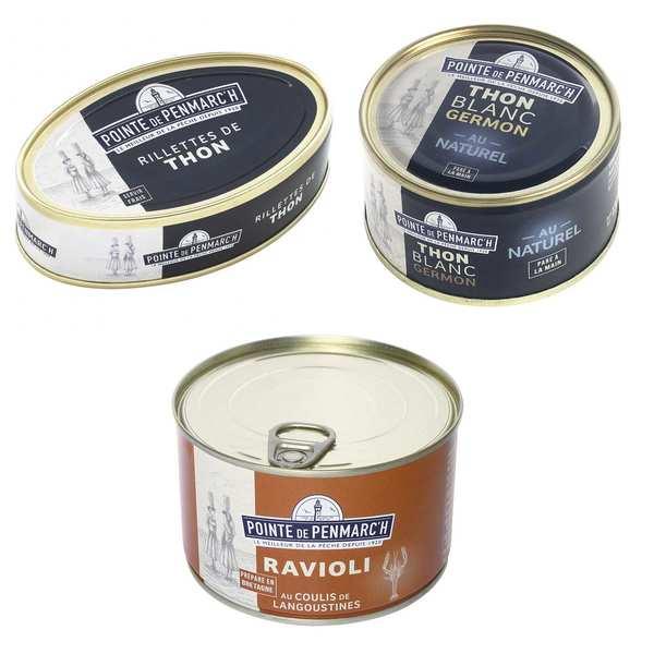 Assortiment de spécialités bretonnes au thon