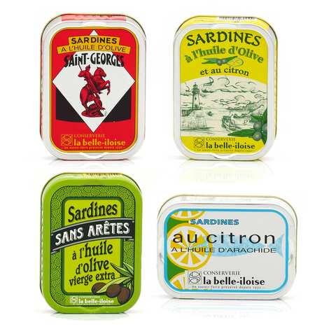 Conserverie La Belle Iloise - La Belle Iloise sardines assortment