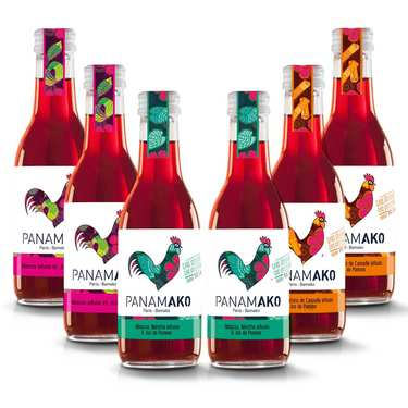 Infused hibiscus juices by Panamako assortment