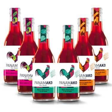 Lot découverte de jus d'hibiscus Panamako