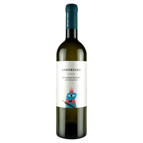 MYLONAS - Assyrtiko vin blanc sec de Grèce IGP Attique