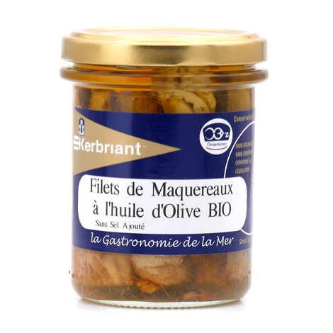 Kerbriant - Filets de maquereaux à l'huile d'olive bio - sans sel ajouté