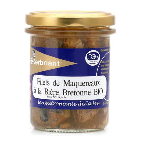 Kerbriant - Filets de maquereaux à la bière bretonne bio - sans sel ajouté