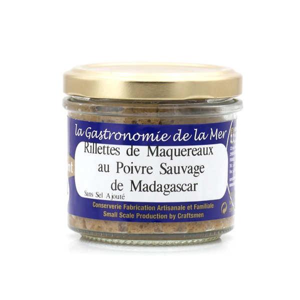 Rillettes de maquereaux au poivre sauvage de madagascar - sans sel ajouté - 3 verrines de 90g