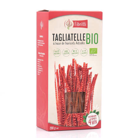 Fibritti - Tagliatelles de haricots adzukis bio sans gluten